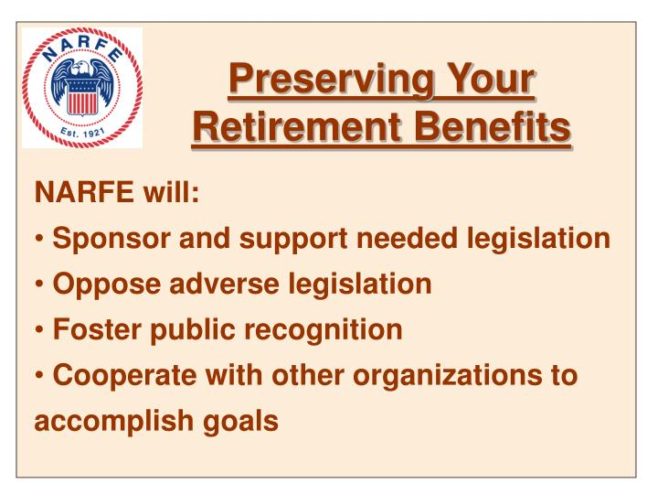 Preserving Your Retirement Benefits