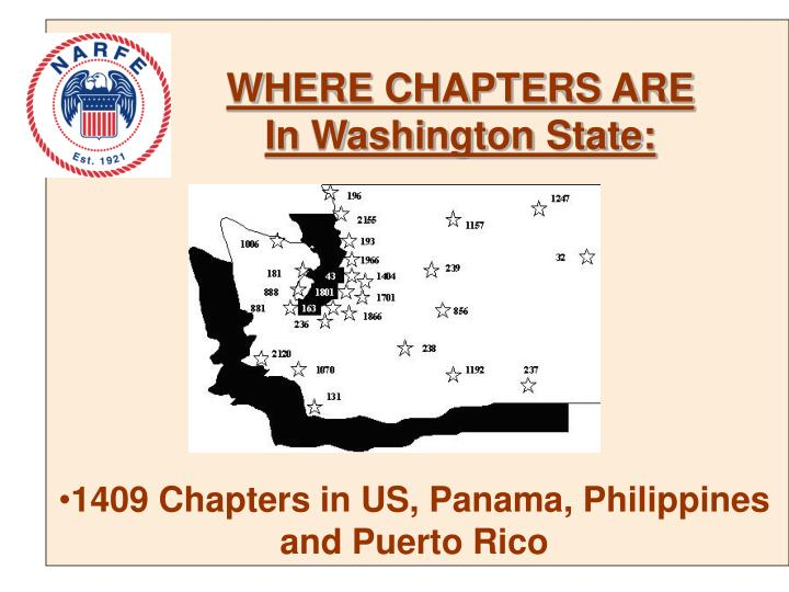 WHERE CHAPTERS ARE In Washington State: