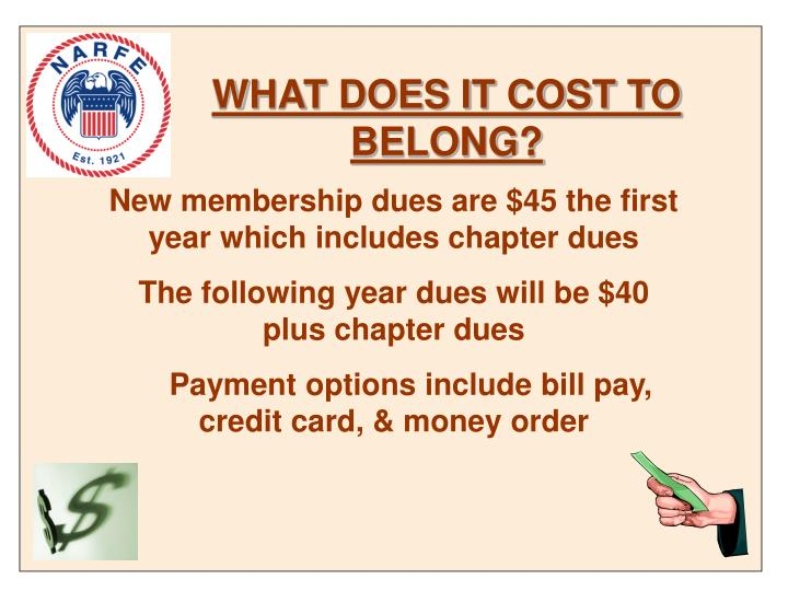 WHAT DOES IT COST TO BELONG?