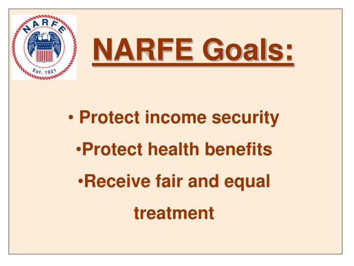 NARFE Goals:
