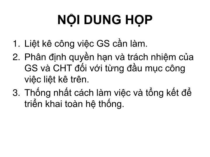 NỘI DUNG HỌP