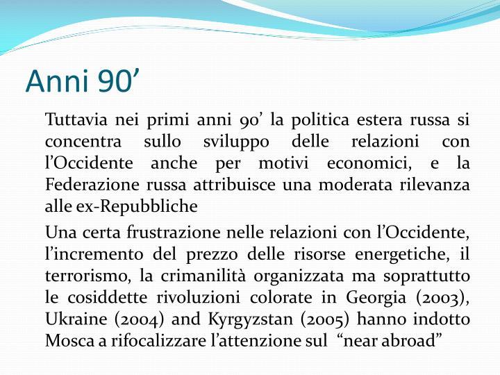 Anni 90'
