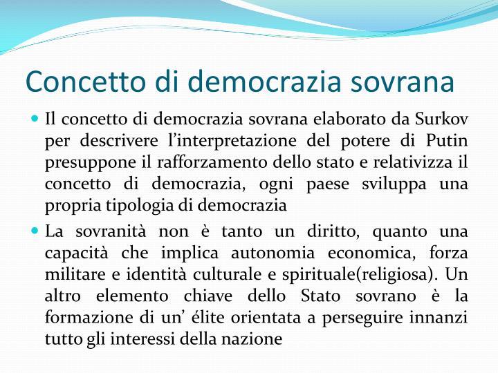 Concetto di democrazia sovrana