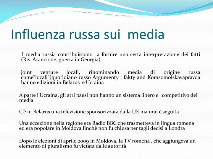 Influenza russa sui  media