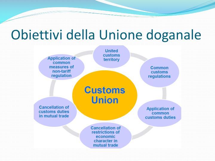 Obiettivi della Unione doganale