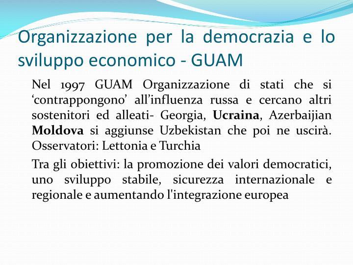 Organizzazione per la democrazia e lo sviluppo economico - GUAM