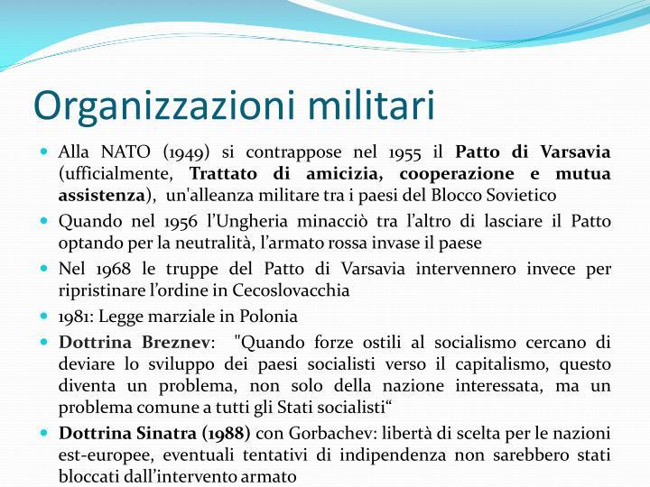 Organizzazioni militari