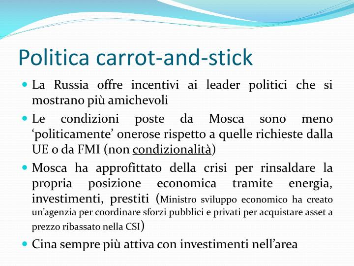 Politica carrot-and-stick