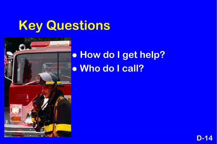 Key Questions