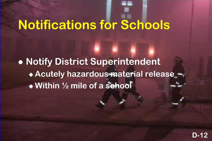 Notifications for Schools