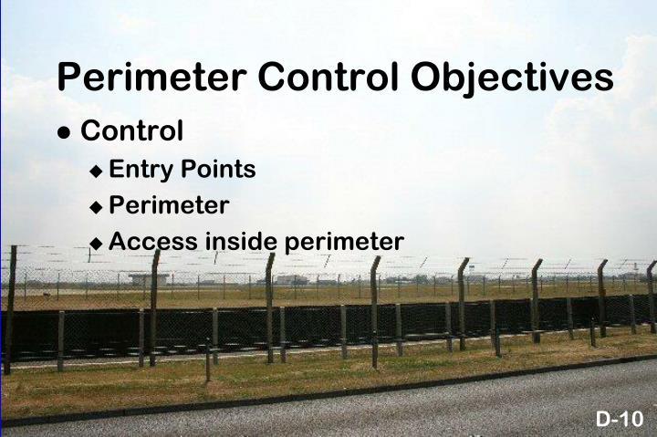 Perimeter Control Objectives