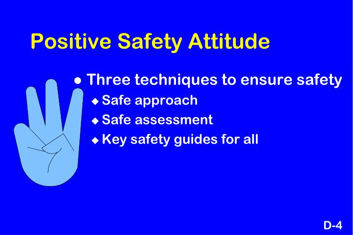 Positive Safety Attitude