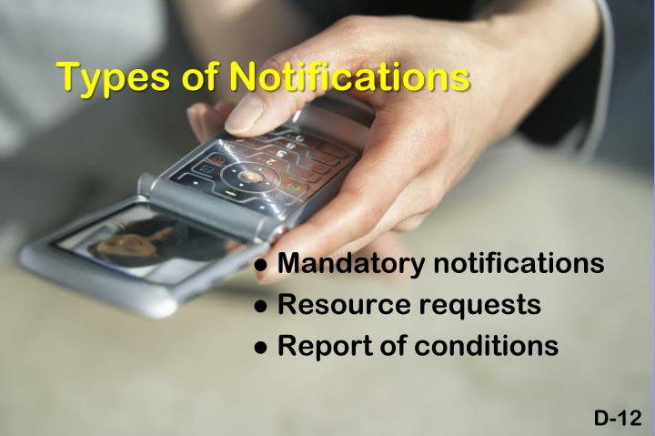 Types of Notifications