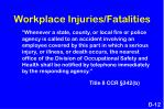 workplace injuries fatalities