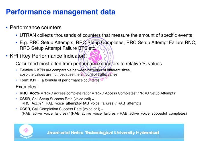 Performance management data