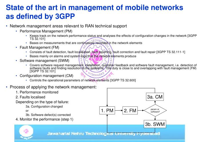 State of the art in management of mobile networks