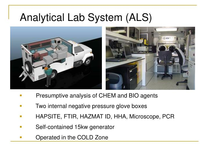 Analytical Lab System (ALS)