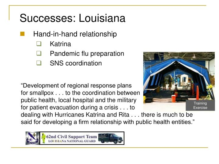 Successes: Louisiana