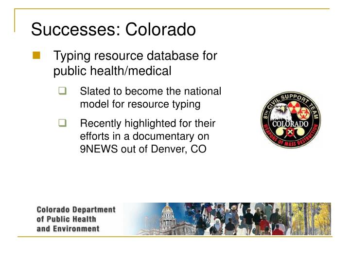 Successes: Colorado