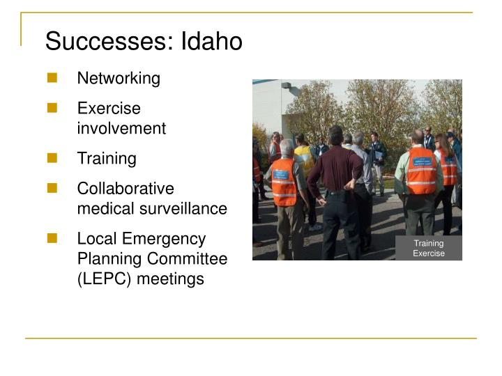 Successes: Idaho