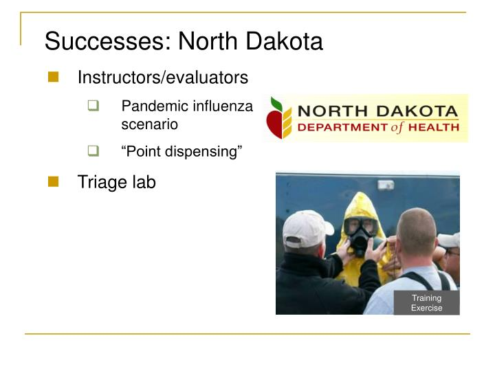 Successes: North Dakota