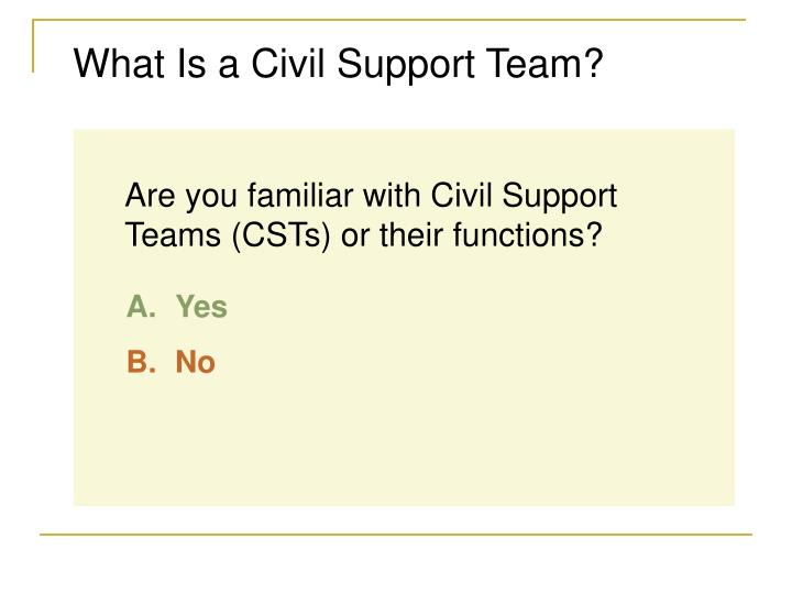 What Is a Civil Support Team?