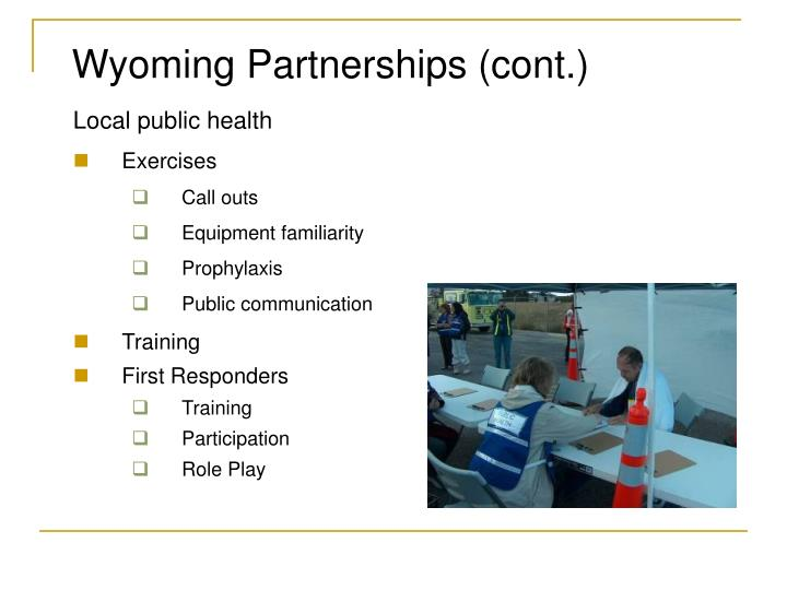 Wyoming Partnerships (cont.)
