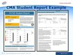 cma student report example