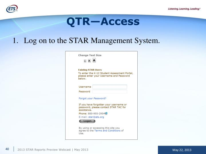 QTR—Access