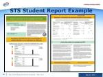 sts student report example