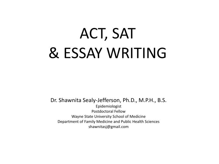 Act sat essay writing