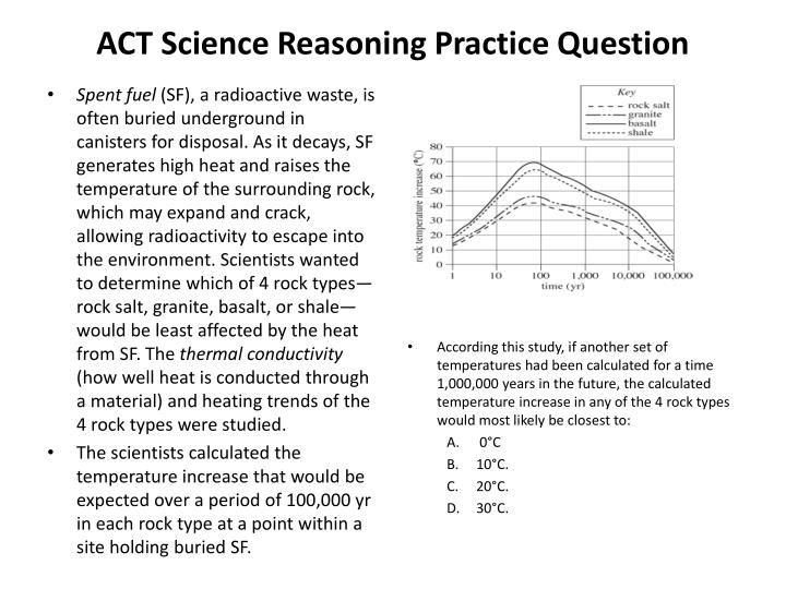 ACT Science Reasoning Practice Question