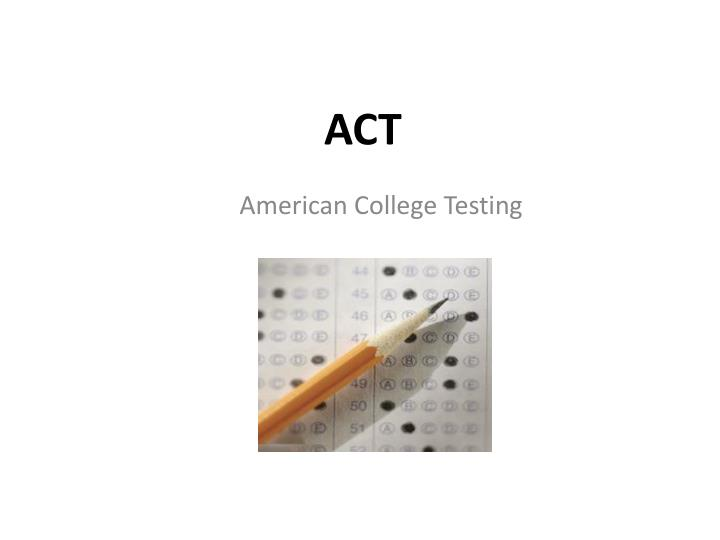 American College Testing