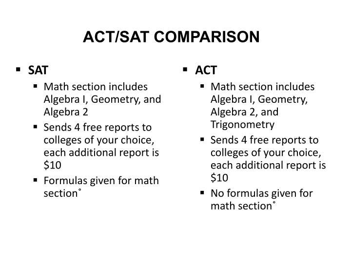 ACT/SAT COMPARISON