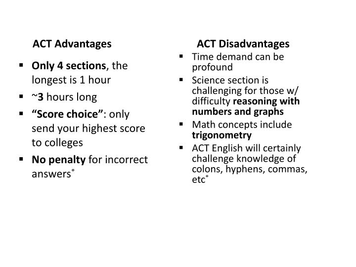 ACT Advantages