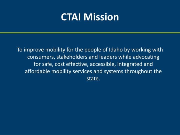 CTAI Mission