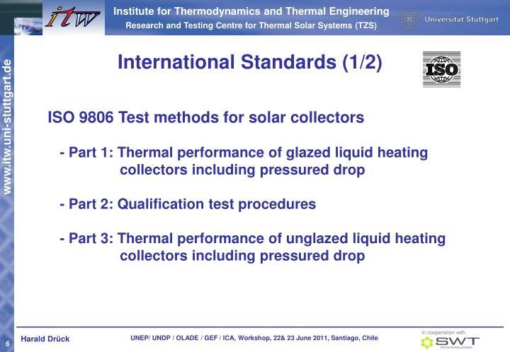 International Standards (1/2)