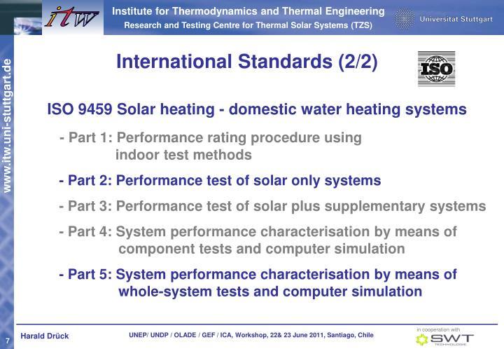 International Standards (2/2)