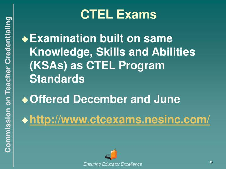 CTEL Exams