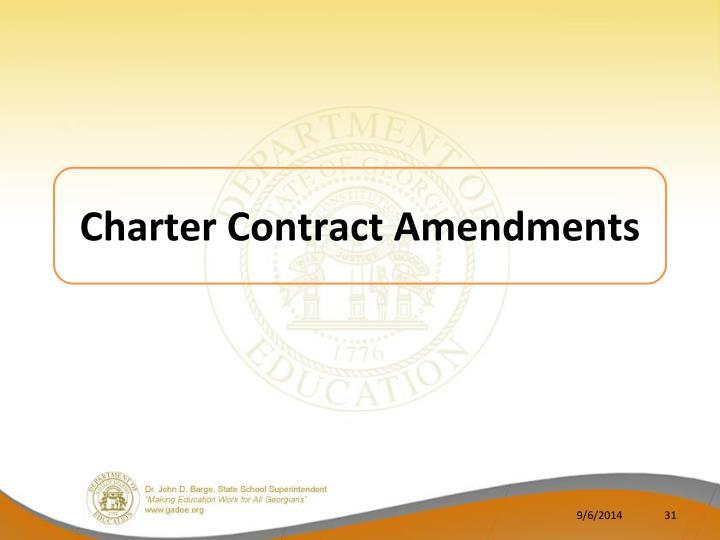 Charter Contract Amendments