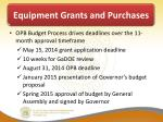 equipment grants and purchases2