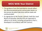 mou with your district5