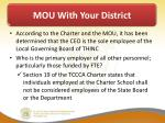 mou with your district8