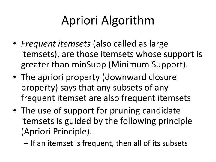Apriori algorithm in data mining ppt