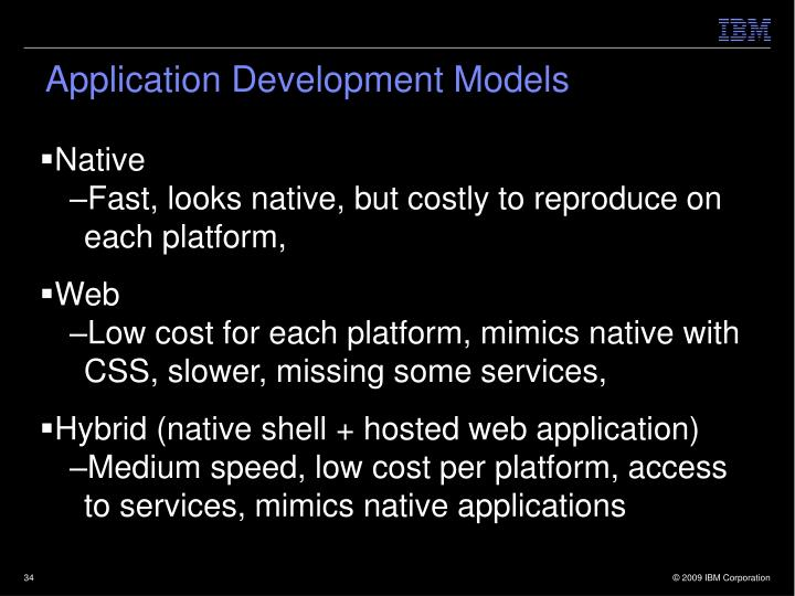 Application Development Models