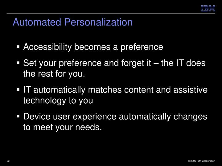 Automated Personalization