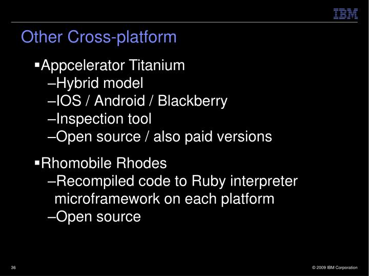 Other Cross-platform
