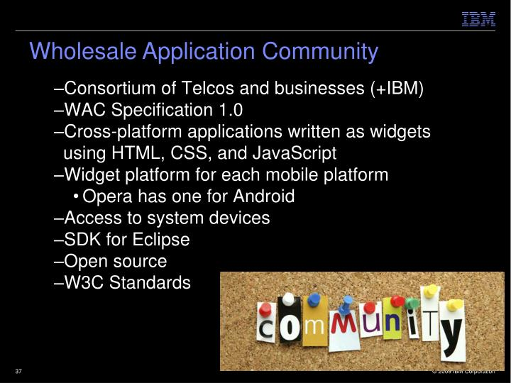 Wholesale Application Community