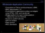 wholesale application community