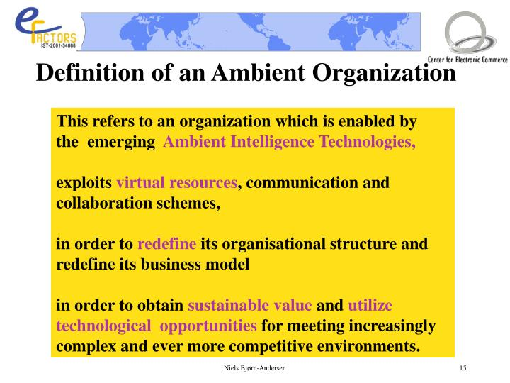 Definition of an Ambient Organization